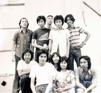Some members of the Pioneer Batch of the UP Artists' Circle Fraternity