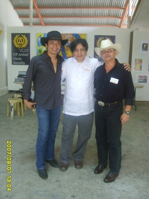 Brods Paul Quiano '89, Neil Doloricon '74 and Brod Maj. Grego Carino '74