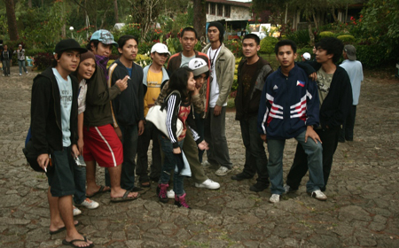 Residents of the UP Artists' Circle Fraternity in Baguio