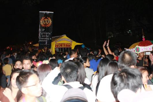 "UP Artists' Circle Fraternity's ""Ticketbooth"" among the favorites of this years lantern parade"