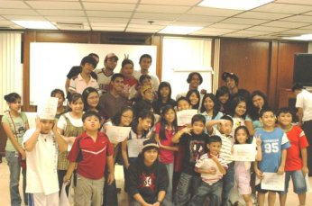 Kalipunan workshops for kids held as part of the exhibition season