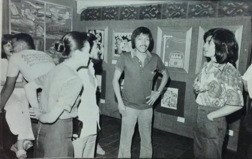 Inter-relation Art Exhibit, 1978, Heritage Art Gallery. credit: Photo: Conrad Samia, courtesy of Rock Drilon '74