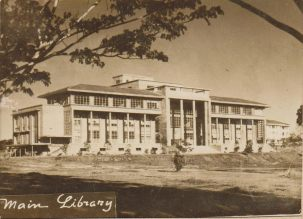 The University of the Philippines Main Library in Diliman, Quezon City, which housed the UP College of Fine Arts in the immediate post-war. From the Flickr page of Leo D. Cloma. Courtesy of the Tantoco Family Library and Archives in Malolos, Bulacan.