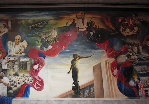 Isandaang-taong Bukang-liwayway at the lobby of the Palma Hall in UP Diliman painted by the UP Artists' Circle in 1996